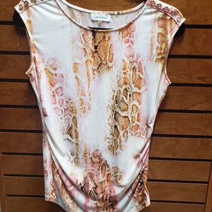 Calvin Klein ex small pink/cream snake patterned